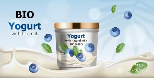 Yogurt vector