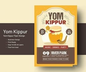 Yom Kippur Flyer Template vector