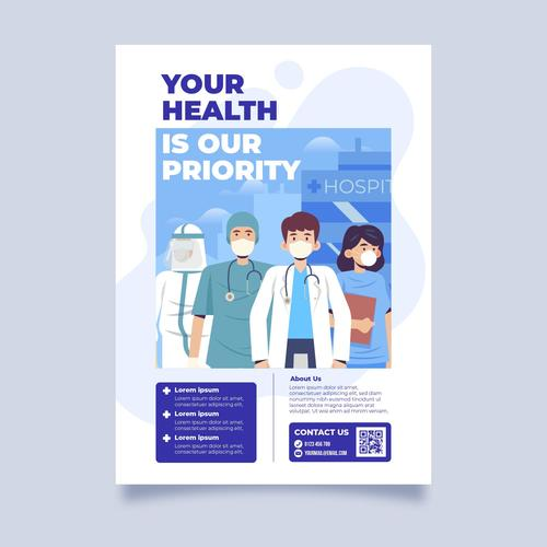 Your health is our priority cartoon vector