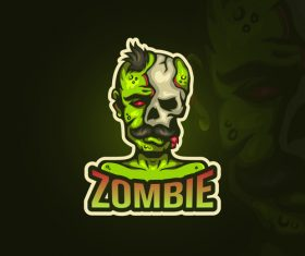 Zombie emblem gaming vector