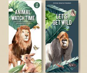 Zoo flyer design vector