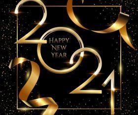 2021 black gold foil highlight decoration vector
