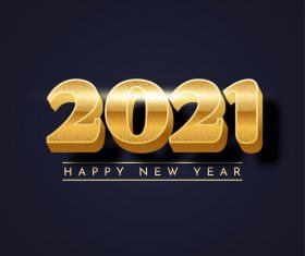 2021 new year font vector