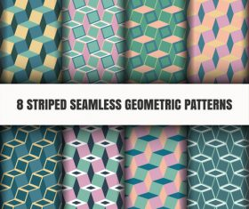 8 striped seamless geometric pattern vector