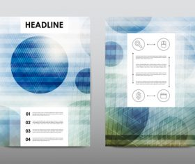 Abstract flyer design layout vector