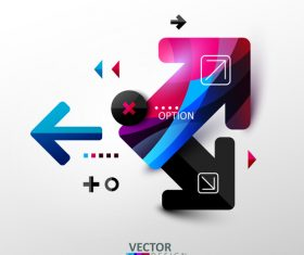 Abstract option infographics vector
