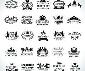 Apartment black logo vector