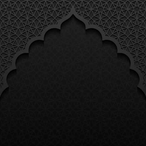 Arc decorative pattern vector