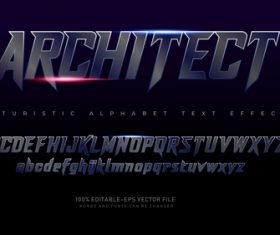 Architect text effect in vector