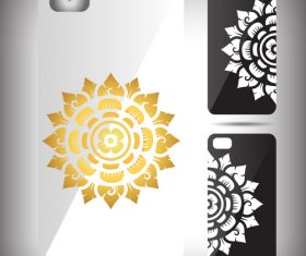 Art mandala pattern phone cases cover vector