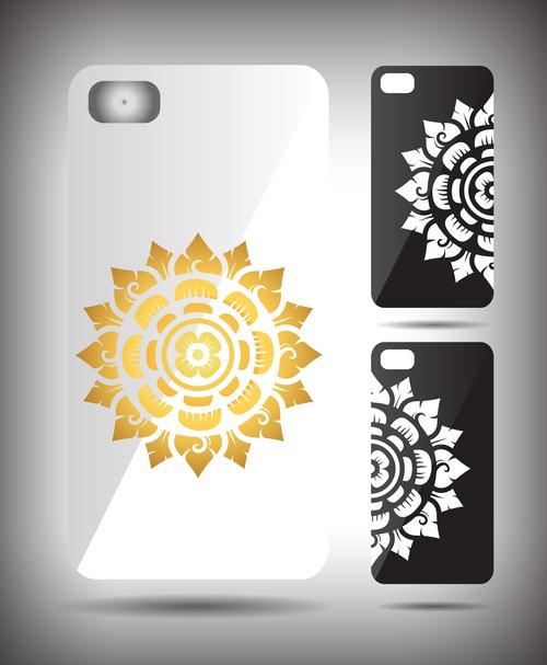 Art mandala pattern phone cases cover vector