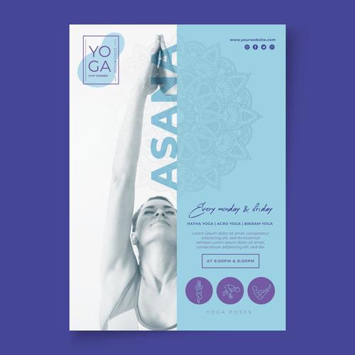 Asana Yoga Poster Vector