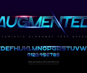 Augmented text effect in vector