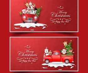 Banner christmas greeting card vector