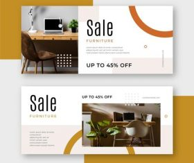 Banner furniture promotional flyer vector