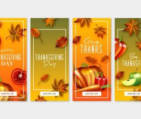 Banner thanksgiving greeting card vector