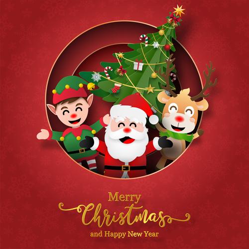 Beautiful Christmas card vector