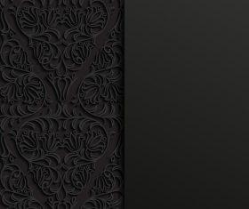 Beautiful arabic black ornament vector
