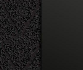 Beautiful arabic black ornament vector