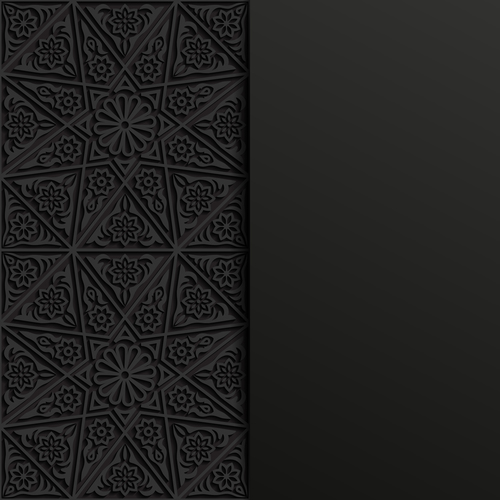 Beautiful carved pattern vector