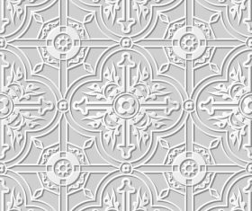 Beautiful paper cut 3D flower pattern vector