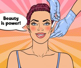Beauty is power cartoon vector