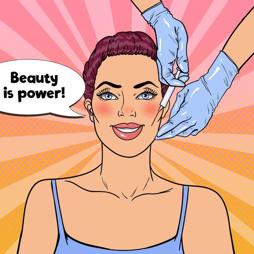 Beauty is power cartoon vector