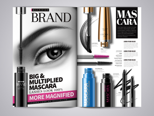Beauty magazine cover vector