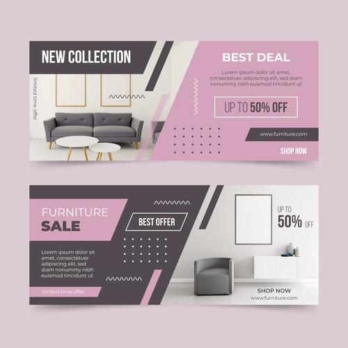 Best deal furniture promotional flyer vector