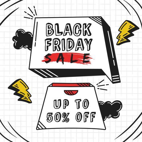 Black Friday illustration vector