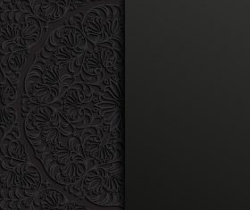 Black background and pattern ornaments vector