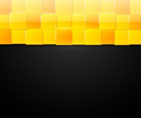 Black background yellow square vector