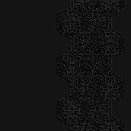 Black beautiful decorative carved pattern vector
