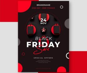 Black friday flyer vector