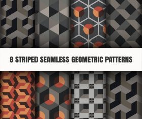 Black geometric seamless pattern vector