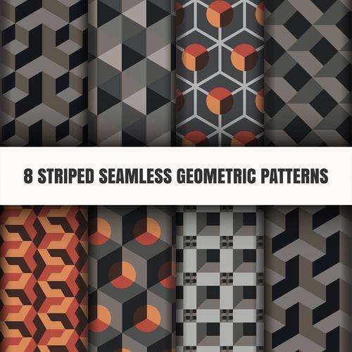 Black geometric seamless pattern vector