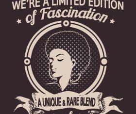 Black girls typography tshirt design vector