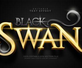 Black swan text effect in vector