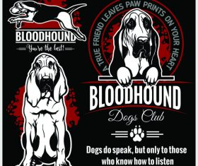 Bloodhound logo vector