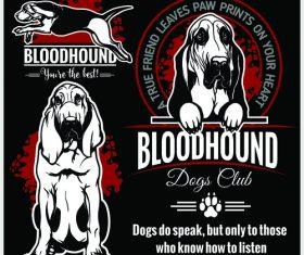 Bloodhound logo vector