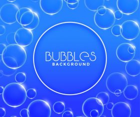 Blue bubbles background vector