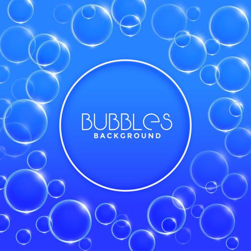Blue bubbles background vector