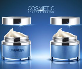 Blue cosmetic package design vector