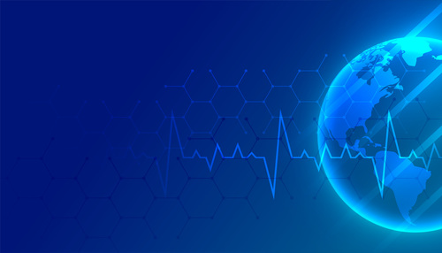 Blue pulsating earth vector