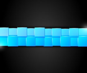 Blue square vector