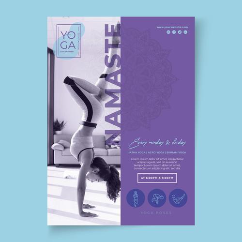Body Beauty Yoga Vector