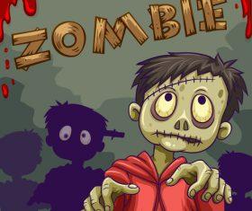 Boy zombie vector