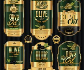 Brand olive label vector