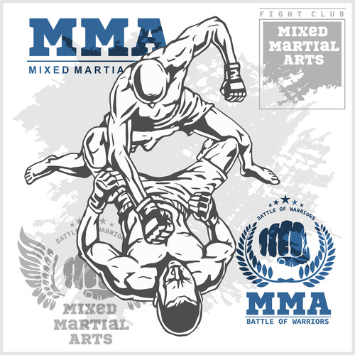 Brave game MMA fight poster vector