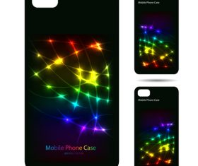 Bright abstract art pattern phone cases cover vector